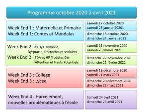Formations et Ateliers octobre 2020 à avril 2021 – RNSE
